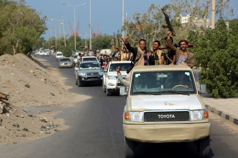 Yemeni Huthi rebels began to pull back from Hodeida in December 2018 under an agreement reached in Sweden earlier that month (AFP Photo/ABDO HYDER)