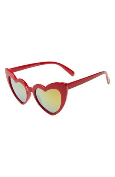 <p>We're smiling just looking at these <span>Rad + Refined Heart Sunglasses</span> ($42).</p>