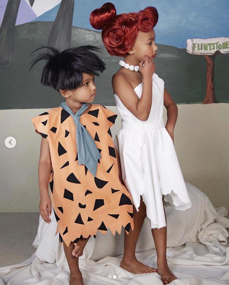 Yabba dabba <em>d-awww!</em> Saint and North made the cutest Fred and Wilma!