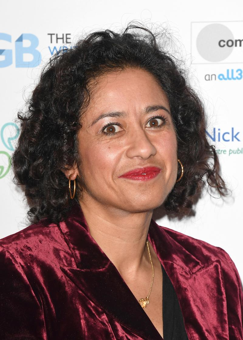 LONDON, ENGLAND - JANUARY 13: Samira Ahmed attends the Writers' Guild Awards 2020 at Royal College Of Physicians on January 13, 2020 in London, England. (Photo by Stuart C. Wilson/Getty Images)