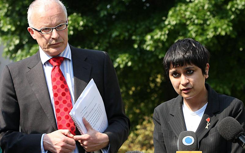 Mr Shiner and Shami Chakrabarti, then of pressure group Liberty, in 2008 - Credit: Katie Collins/PA