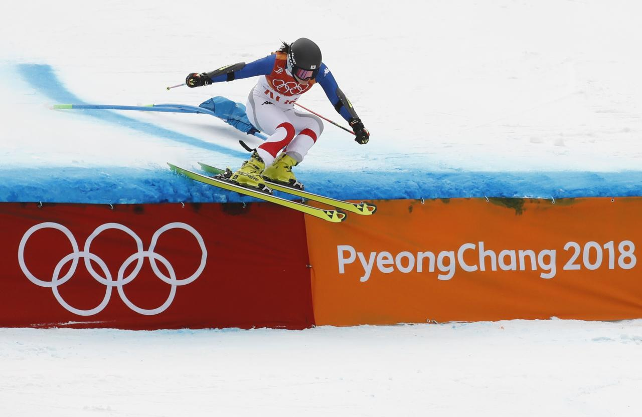 Alpine Skiing - Pyeongchang 2018 Winter Olympics - Team Event - Yongpyong Alpine Centre - Pyeongchang, South Korea - February 24, 2018 - Kang Young-seo of South Korea competes. REUTERS/Christian Hartmann