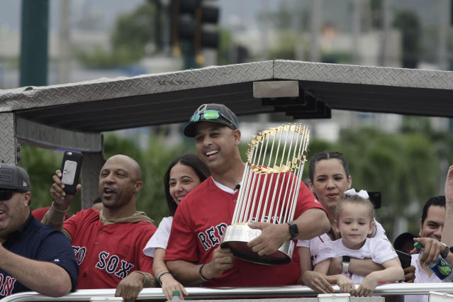 Red Sox manager Alex Cora opens up success, failure, his passion for baseball and his incredible journey from Puerto Rico to Boston in a new MLB Network documentary. (AP)