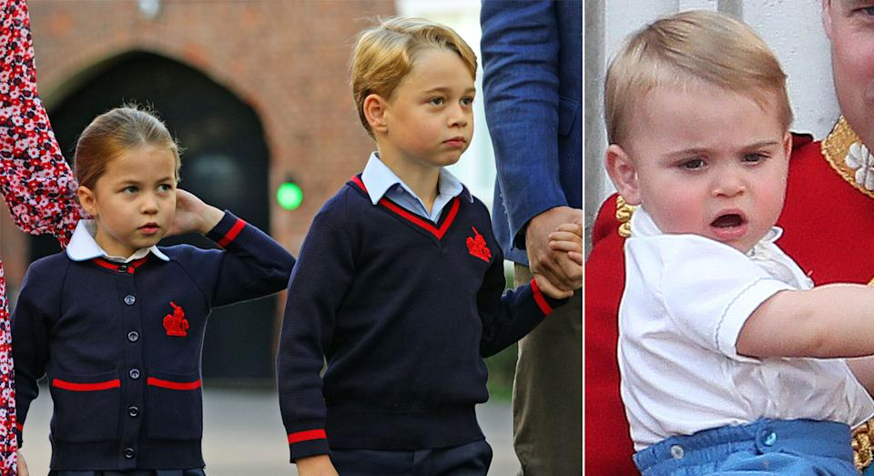 Charlotte and George, and Louis, will one day take on royal responsibilities. (Getty Images)