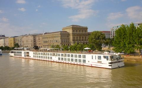 A Viking vessel on the Danube in Budapest during happier times - Credit: Getty