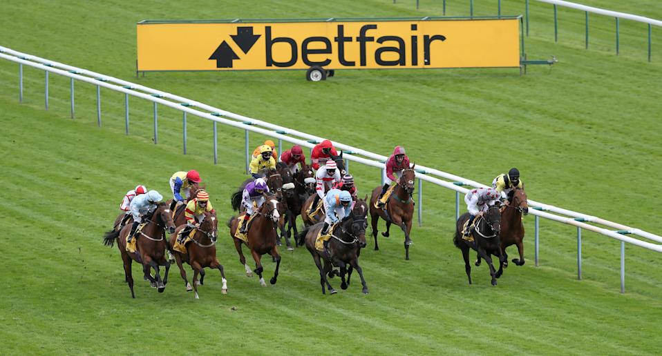 Runners and riders at Betfair Sprint Cup Day 2020 at Haydock Racecourse in Newton-le-Willows, UK. Photo: David Davies/Getty Images