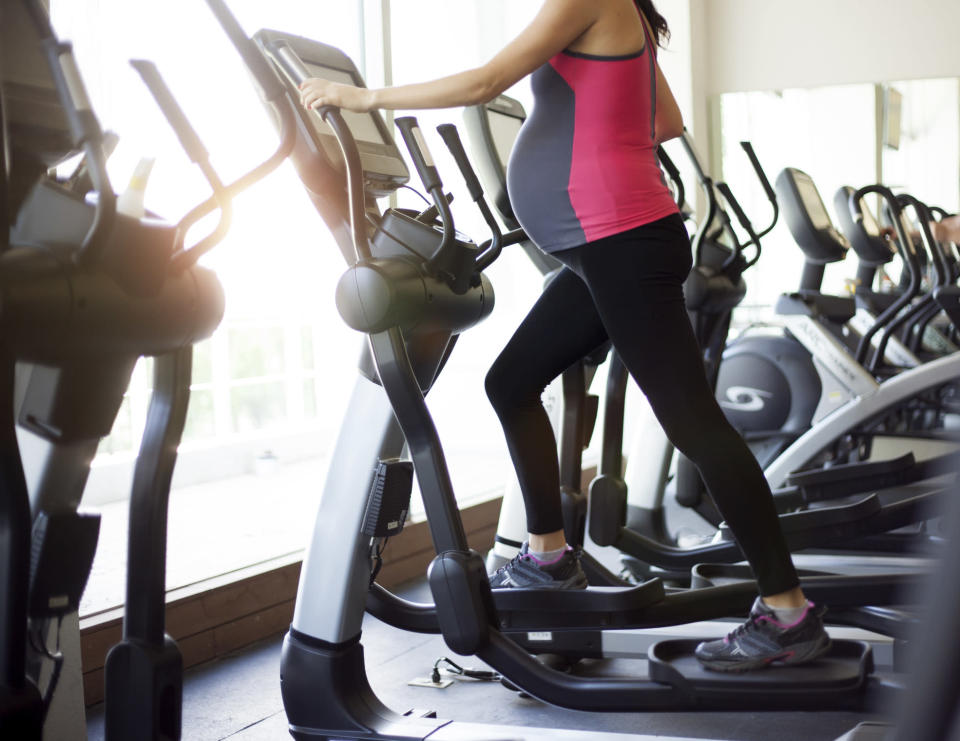 How much is too much exercise when you're pregnant? [Photo: Getty]