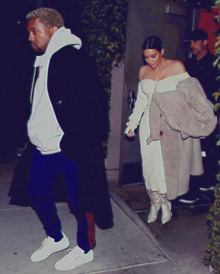"""Date night,"" Kardashian noted."
