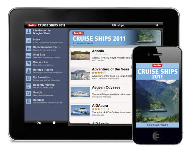 This product image courtesy of Berlitz Publishing shows the Berlitz Cruise Ships 2011 app. The Berlitz Cruise Ships 2011 app is designed to help travelers find their ideal cruise.   (AP Photo/Berlitz Publishing)  NO SALES