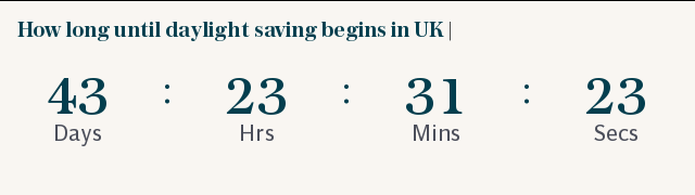 How long until daylight saving begins in UK