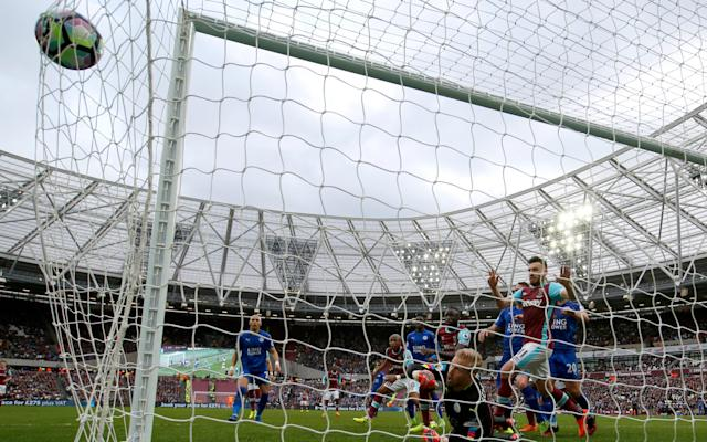 <span>Andre Ayew scores for West Ham</span>