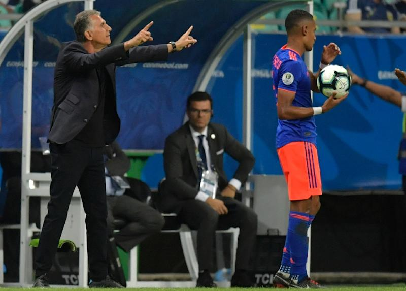 Portuguese coach Carlos Queiroz has already made his mark on Colombia after just five matches in charge (AFP Photo/Raul ARBOLEDA)