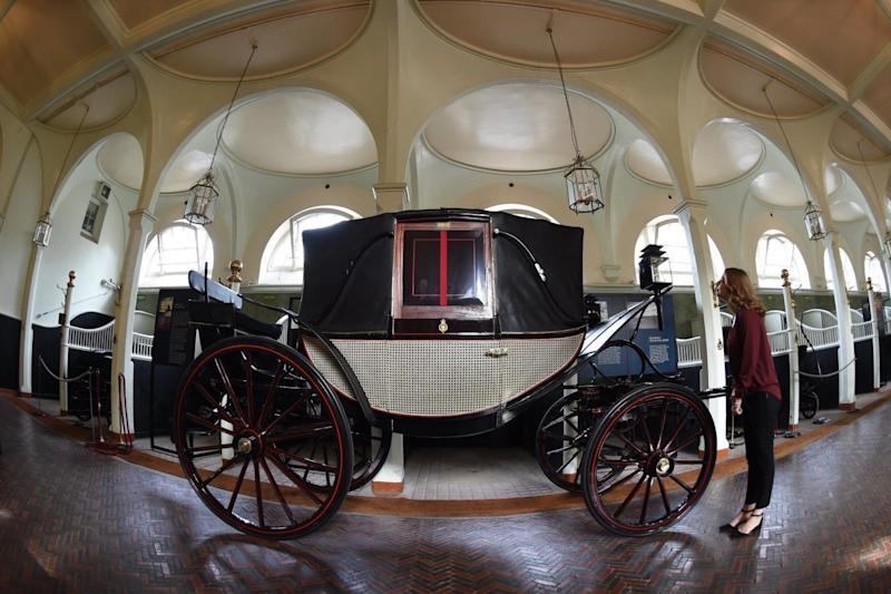 On display: the carriage at Royal Mews (Daniel Hambury)