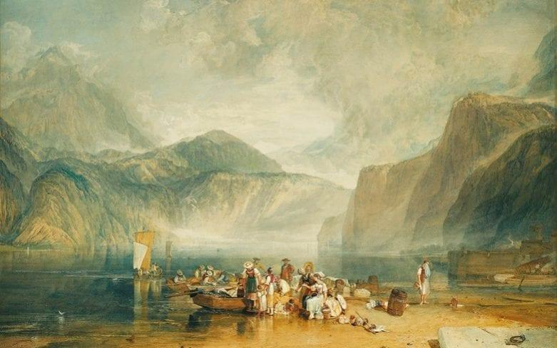 Turner was partly responsible for popularising among travellers places such as Lake Lucerne