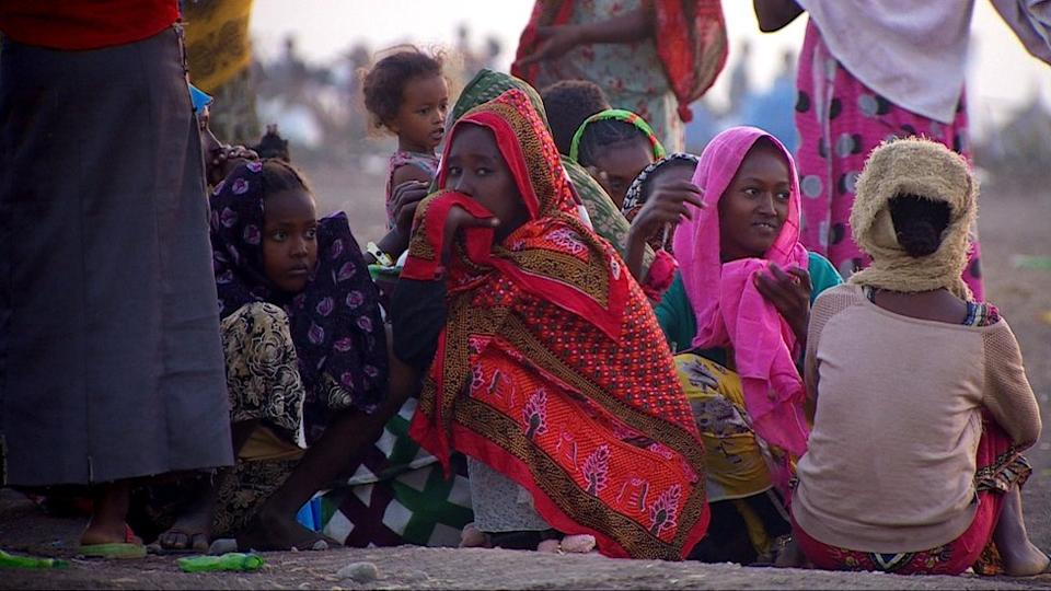 Refugees who have fled Ethiopia's northern Tigray region amid fierce fighting