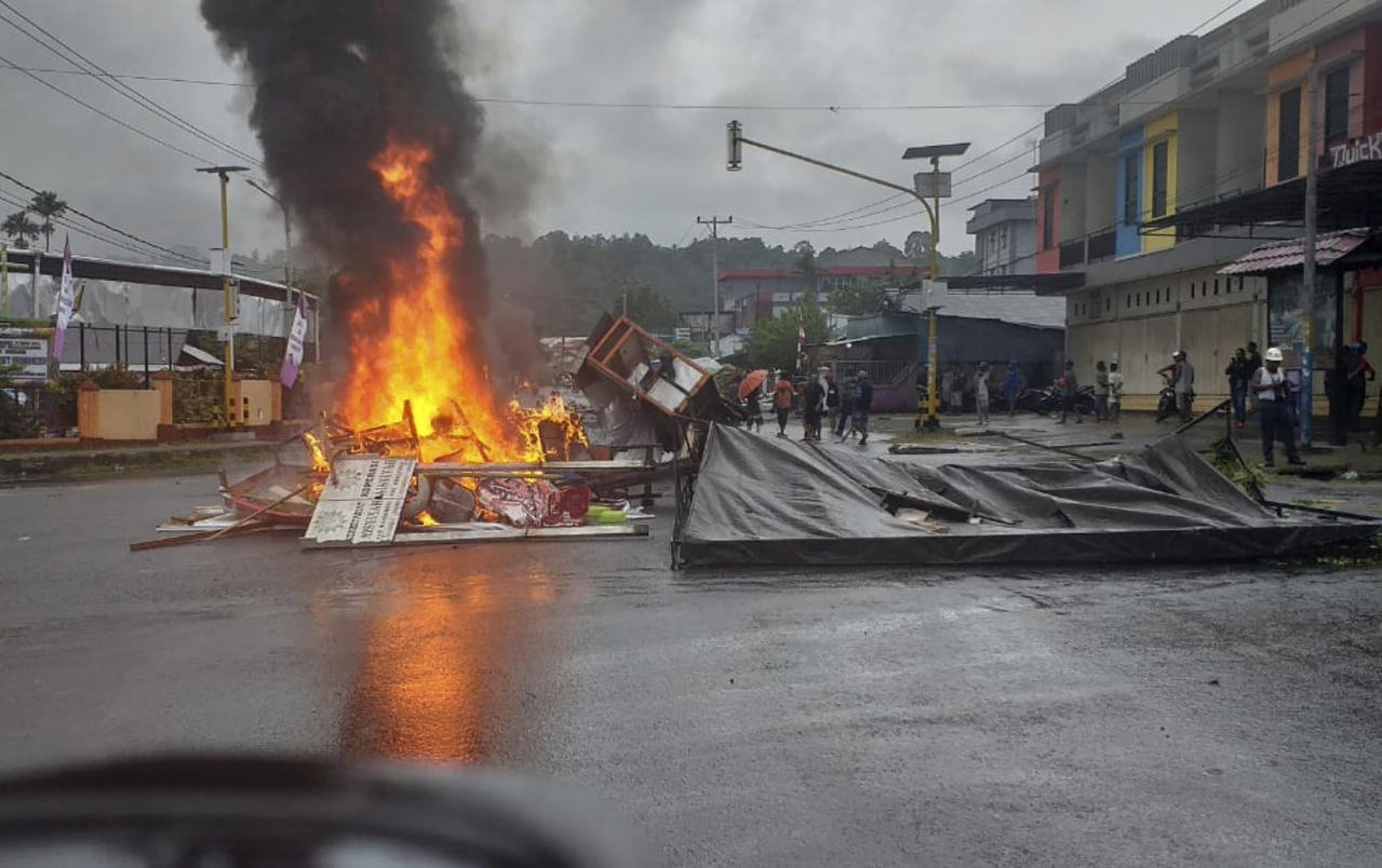 Protesters burn parliament building in Indonesia's Papua