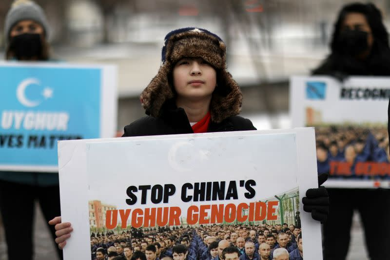 FILE PHOTO: Protest against China for Uighur and Muslim minorities in Washington