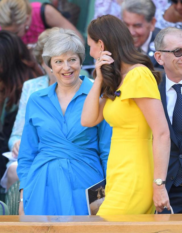 Theresa May and Kate Middleton. (Photo: Getty Images)