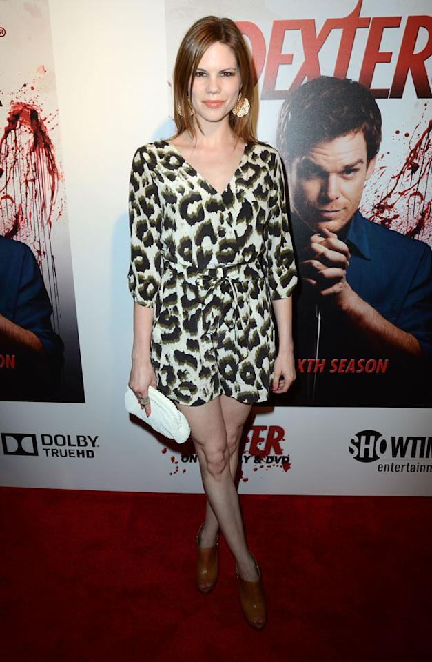 """Mariana Klaveno arrives at the """"Dexter"""" Season 6 DVD release party held at Tropicana Bar inside The Hollywood Roosevelt Hotel on August 7, 2012 in Hollywood, California."""
