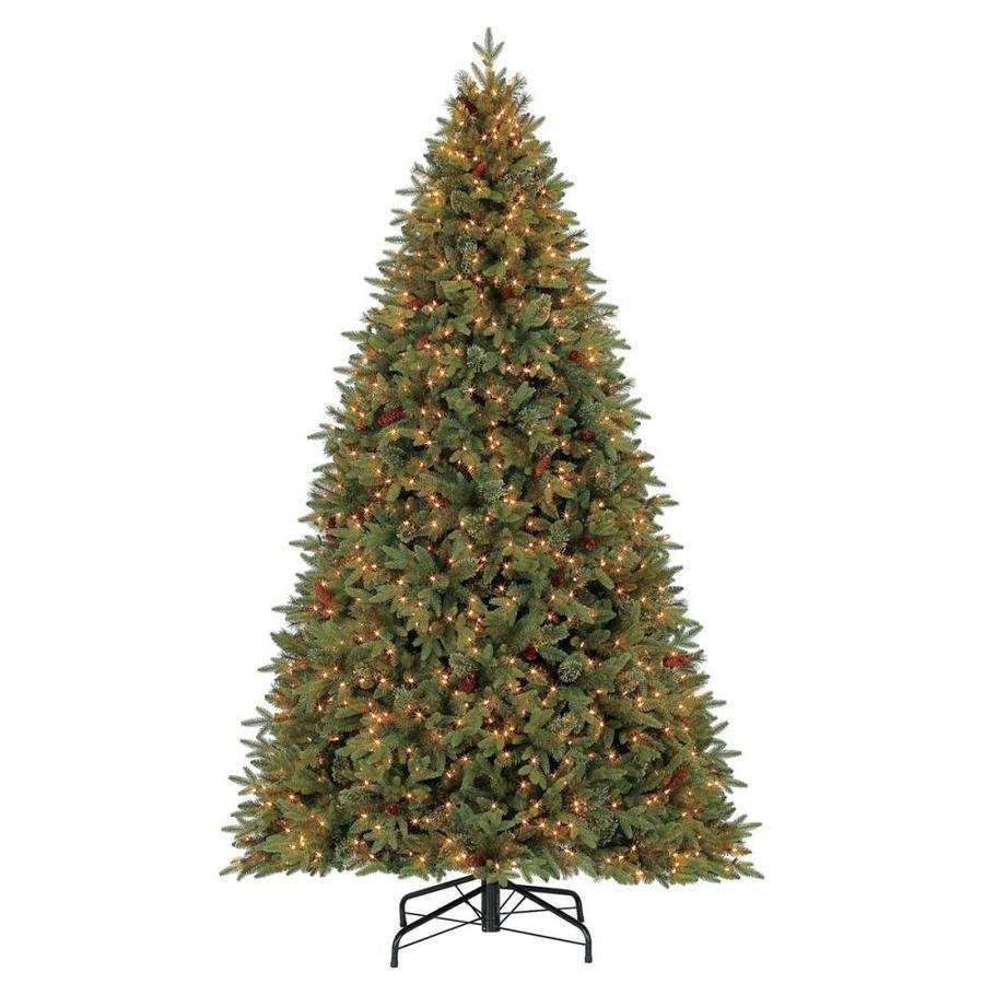 Holiday Living 9-ft Hayden Pine Incandescent Artificial Christmas Tree. (Image via Lowes)