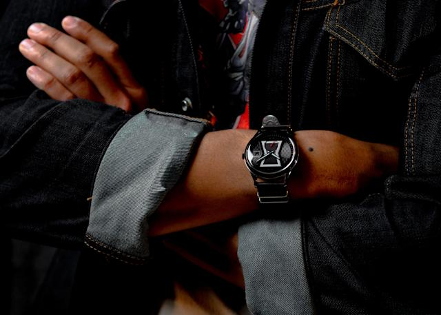 Keep on your spy schedule with this <em>Black Widow</em> watch from Citizen. (Photo: Disney Dpecp)