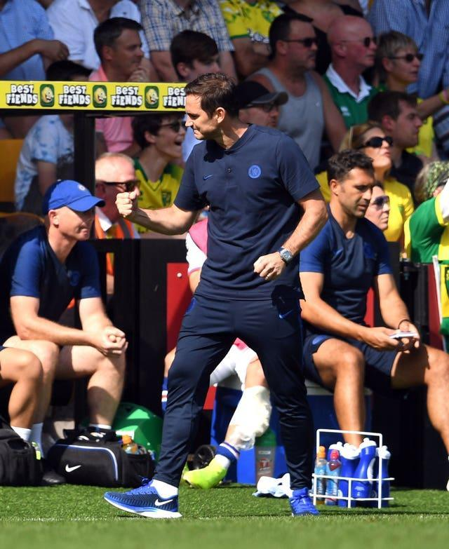 A first victory in his new role came in August 2019, when his side defeated Norwich 3-2