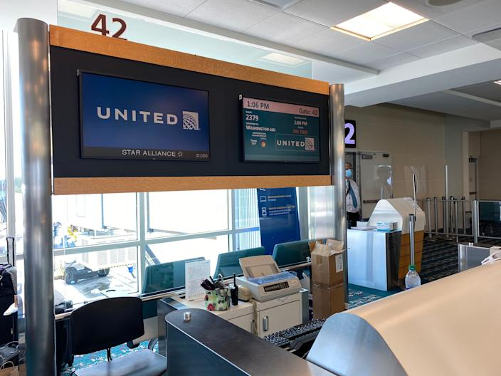 Flying United Airlines from Orlando to Washington in June.