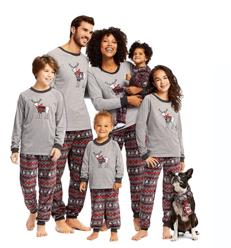 Family Cabin Cozy Matching Pajama Sets from Jammin Jammies available on Amazon, from $12.