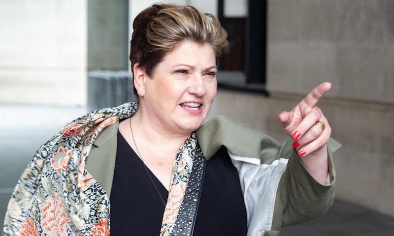 Emily Thornberry points a finger