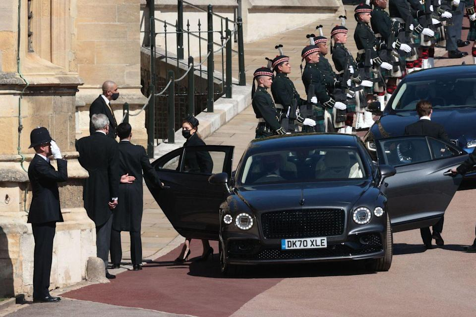 <p>Princess Beatrice also makes her entrance. </p>