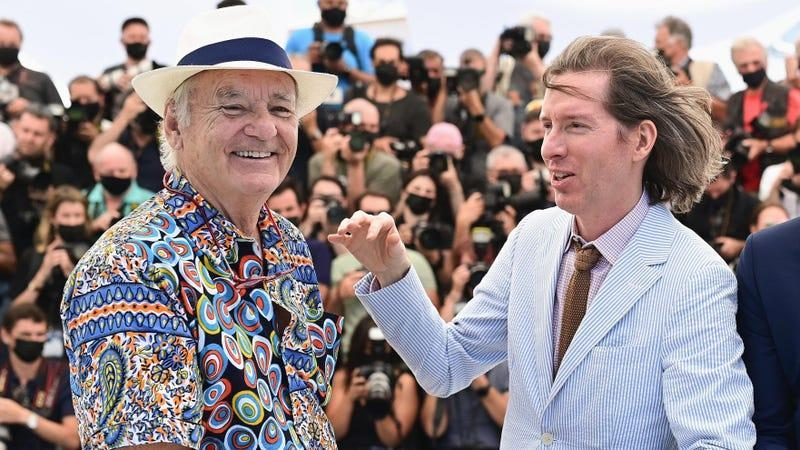 Bill Murray and Wes Anderson at the 2021 Cannes Film Festival