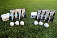 """<p>If your man has some golf chops, he can definitely take advantage of a high-quality golf ball. The new balls from TaylorMade have a soft feel that promotes control of the ball off the clubface as well as on the greens; the TP5 will grip and stop where lesser balls will hit and roll away into bogey territory. He might prefer the TP5X for a little more distance or the TP5 for accurate chip shots. <a rel=""""nofollow noopener"""" href=""""https://taylormadegolf.com/taylormade-balls-TP5-TP5x/"""" target=""""_blank"""" data-ylk=""""slk:$45/dozen"""" class=""""link rapid-noclick-resp"""">$45/dozen</a> (Gordon Donovan/Yahoo News) </p>"""