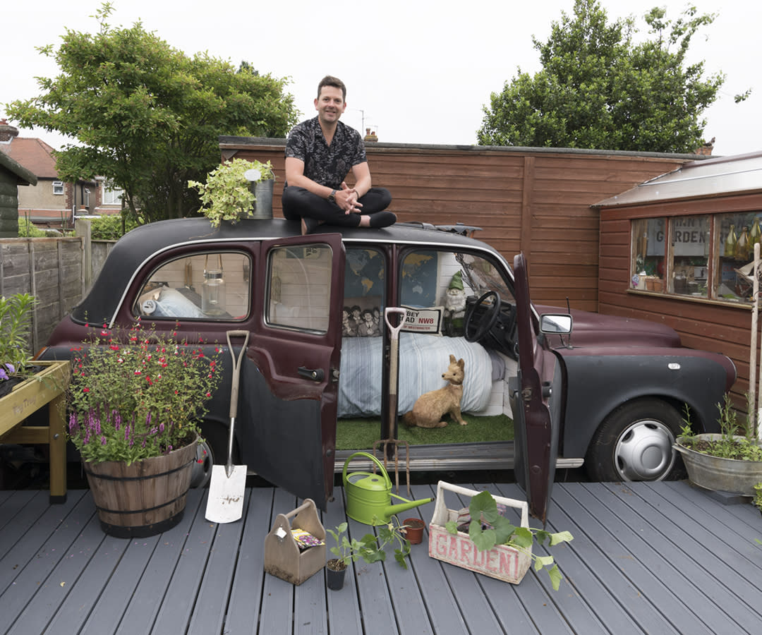 <p>UNEXPECTED:<br />The Taxi – owned by Lee Connelly in Colchester, Essex (Picture: Shed of the Year) </p>
