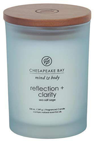 """<p><strong>Chesapeake Bay Candle</strong></p><p>amazon.com</p><p><strong>$11.96</strong></p><p><a href=""""https://www.amazon.com/dp/B01MRYDKP6?tag=syn-yahoo-20&ascsubtag=%5Bartid%7C10072.g.23584712%5Bsrc%7Cyahoo-us"""" rel=""""nofollow noopener"""" target=""""_blank"""" data-ylk=""""slk:SHOP NOW"""" class=""""link rapid-noclick-resp"""">SHOP NOW</a></p><p>One simple way to achieve balance and harmony in your home is through Chesapeake Bay's Mind & Body collection. The combination of eucalyptus, lavender, and sea salt with hints of sage blend perfectly here, emitting a light aroma and providing a sense of calm. </p>"""