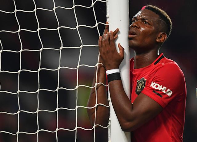 Paul Pogba and Manchester United barely got past Rochdale in the Carabao Cup. (Getty)