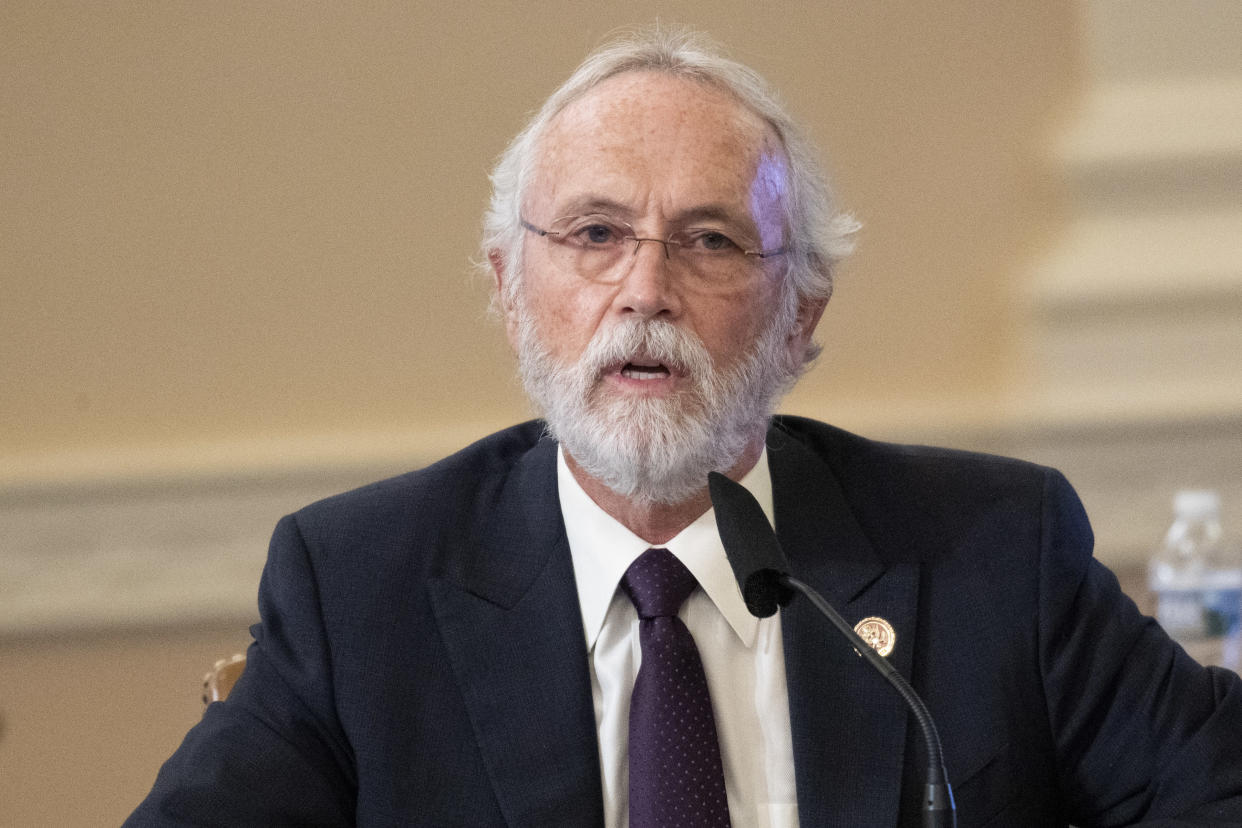 Rep. Dan Newhouse, R-Wash., speaks during a House Appropriations Committee markup of FY2021 appropriations for Interior, Environment, and Related Agencies; and Legislative Branch in the Capitol in Washington on Friday, July 10, 2020. (Caroline Brehman/CQ-Roll Call, Inc via Getty Images)