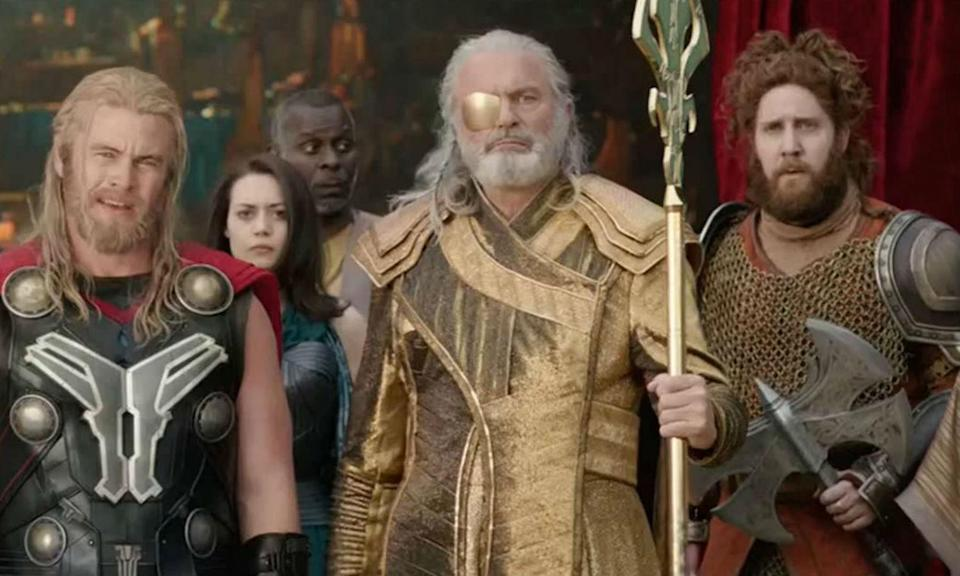 <p>The<em> Jurassic Park</em> legend played Odin in Loki's play which was interrupted by the real Thor in <em>Thor: Ragnarok.</em> </p>
