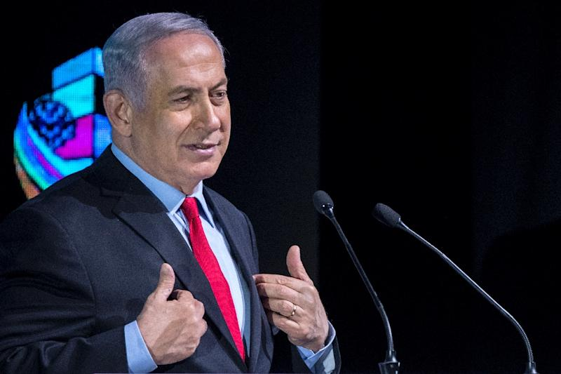 Israeli Prime Minister Benjamin Netanyahu tells a conference in Tel Aviv on February 14, 2018 that his governing coalition is stable but some suspect him of allowing a crisis to brew to enable early elections -- or to at least give himself options
