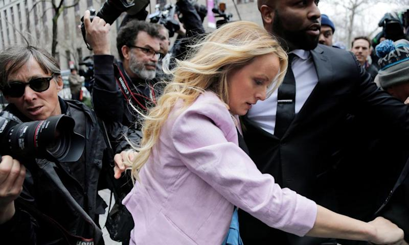 Stormy Daniels arrives at federal court in New York.