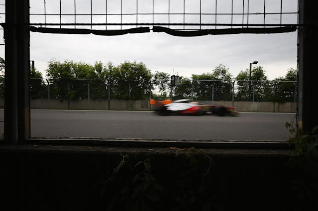 MONTREAL, CANADA - JUNE 08: Lewis Hamilton of Great Britain and McLaren drives during practice for the Canadian Formula One Grand Prix at the Circuit Gilles Villeneuve on June 8, 2012 in Montreal, Canada. (Photo by Mark Thompson/Getty Images)