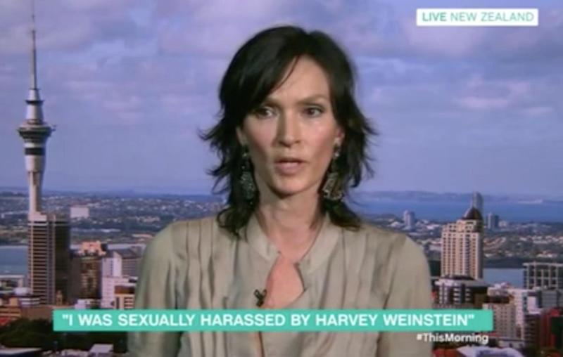 The model was forced to lock herself in the bathroom away from Weinstein. Source: This Morning / ITV