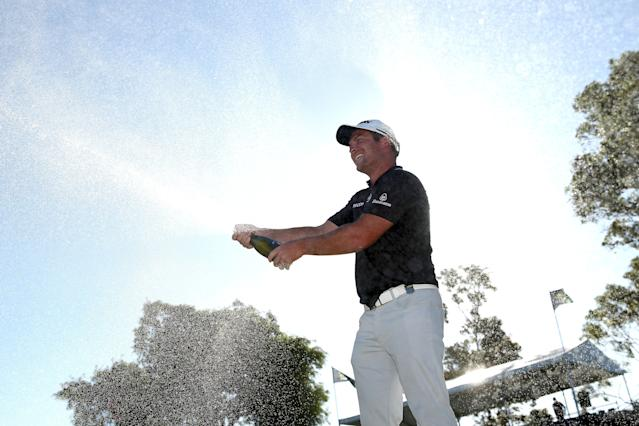 "<div class=""caption""> Ryan Fox sprays champagne on the sixth green after winning the title at the ISPS Handa World Super 6 Perth. </div> <cite class=""credit"">Paul Kane/Getty Images</cite>"