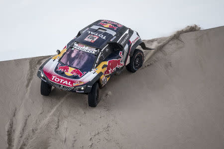 Carlos Sainz (ESP) of Team Peugeot Total races during stage 11 of Rally Dakar 2018 from Belem to Chilecito, Argentina on January 17, 2018 // Marcelo Maragni/Red Bull Content Pool // For more content, pictures and videos like this please go to www.redbullcontentpool.com