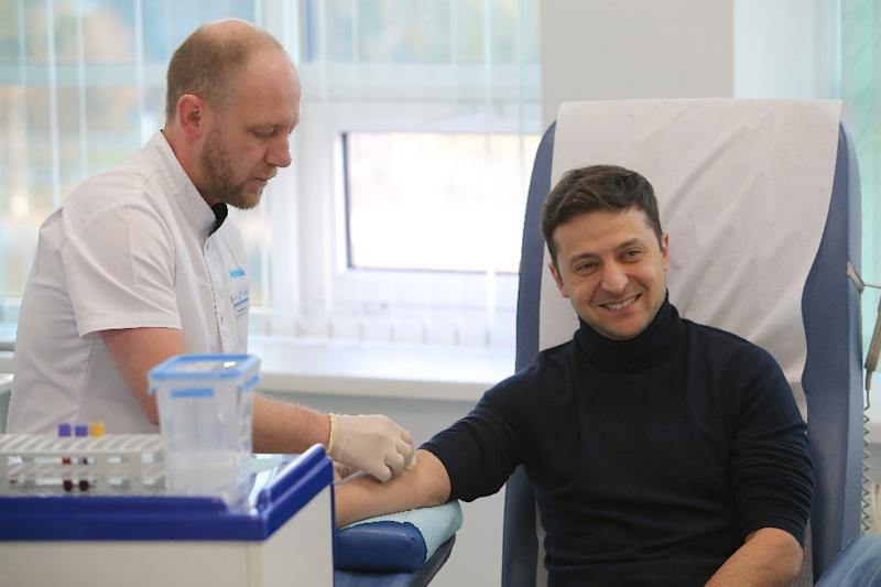 Zelensky has undergone a blood test to prove he does not abuse alcohol and drugs (AFP Photo/-)
