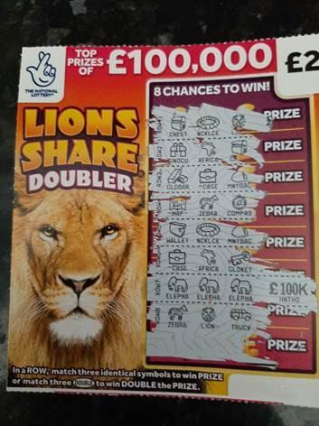 The three elephants on the National Lottery Lions Share Doubler scratchcard won Louise Tate the top prize (Anthony Devlin/PA)