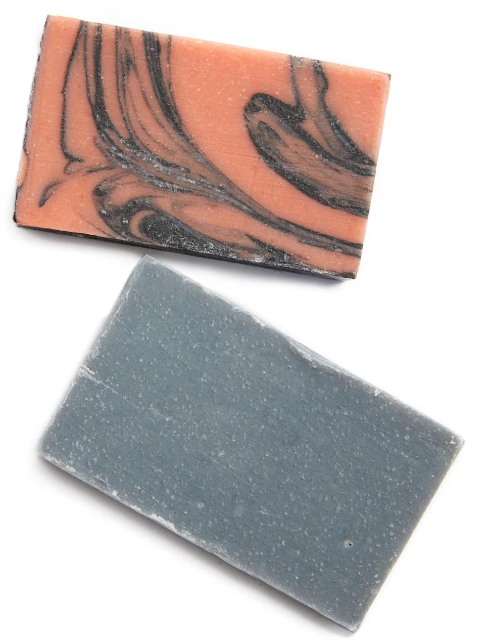 Rose Charcoal Face Soap Bar & Charcoal Soap Bar Set. Image via Nordstrom.