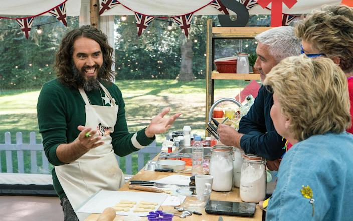 Russell Brand took the Star Baker award - Mark Bourdillon (Channel 4 images must not be altered or manipulated in any way) CHANNEL 4 PICTURE PUBLICITY 124 HORSEFERRY ROA