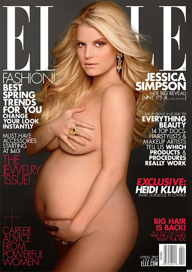 <p>Jessica Simpson on the cover of <em>Elle</em>, 2012 </p>