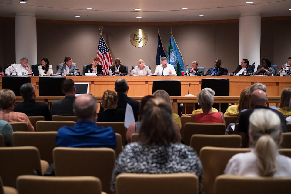A public hearing is held with house legislators to discuss the opioid crisis at Greenville County Council on Wednesday, July 12, 2017.