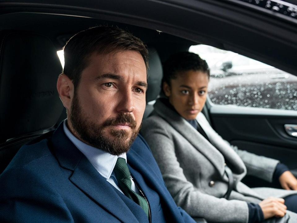 Steve Arnott (Martin Compston) and Chloe Bishop (Shalom Brune-Franklin) in Line of Duty (BBC/World Productions/Steffan Hill)